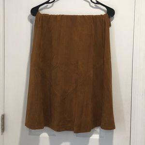 Chestnuts Suede Skirt